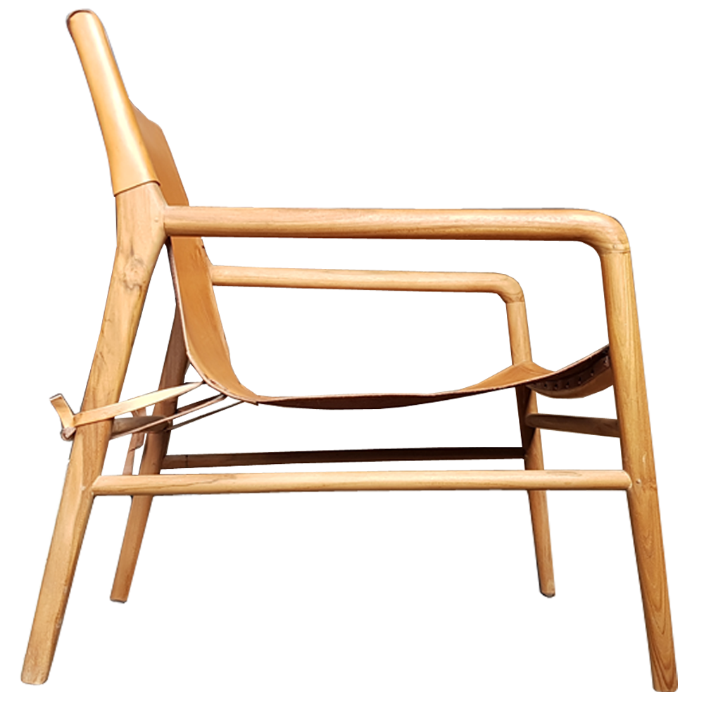 Leather Sling Chair with Straps